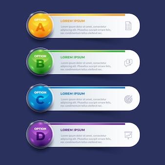 Infografía de tabla de contenido realista