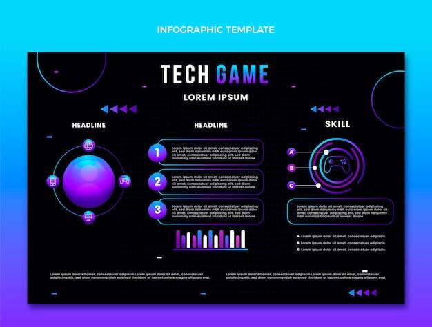 Infografía de tecnología abstracta degradada