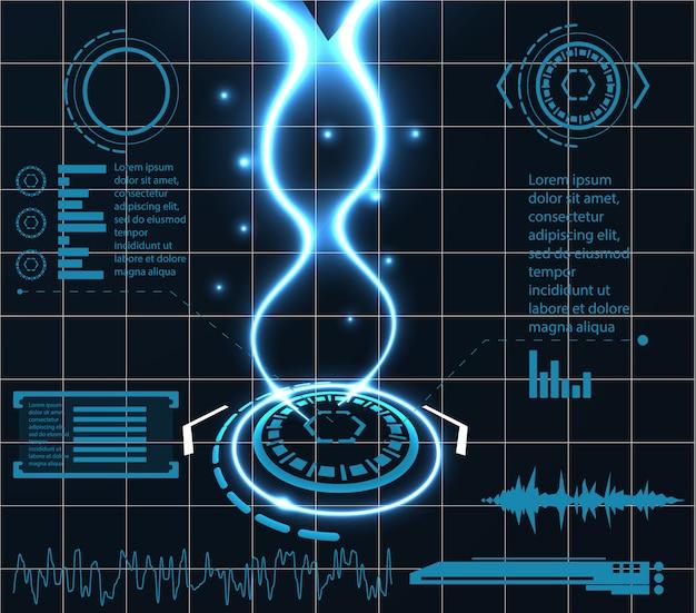 Infografía tecnología de diseño de plantillas innovadoras