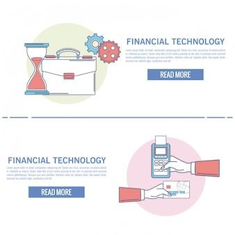 Infografía de tecnología financiera en línea
