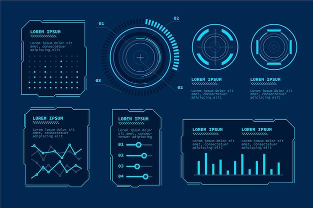 Infografía de tecnología futurista
