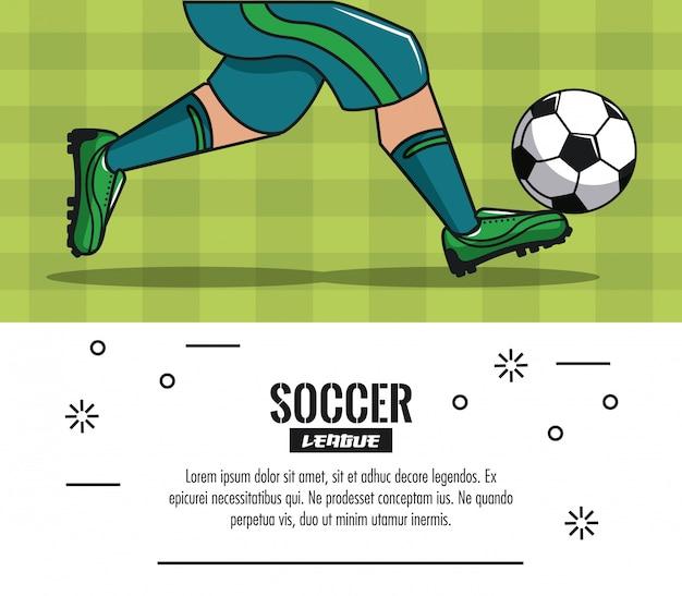 Infografía de torneo de fútbol con elementos