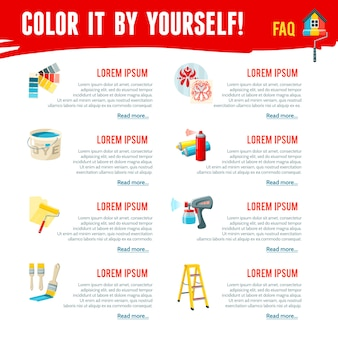 Infografía de trabajos de pintura