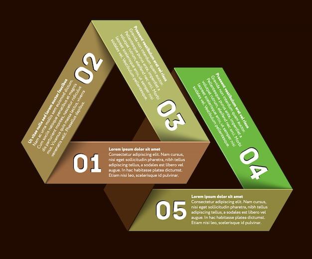 Infografía con triángulo imposible