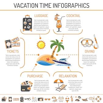 Infografía de vacaciones y turismo