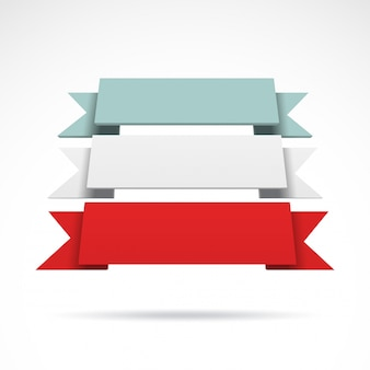 Infografía vector 3d cintas de colores