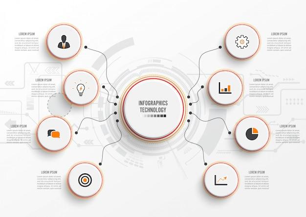 Infografía vector tecnología
