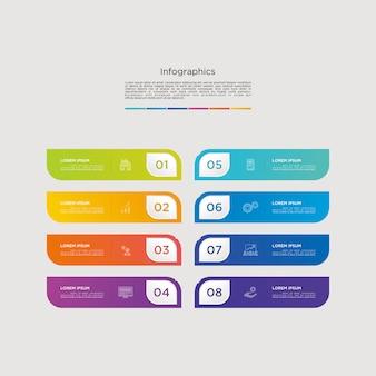 Infografía vectorial gráfico descargar plantilla moderna