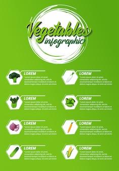 Infografía de verduras naturales