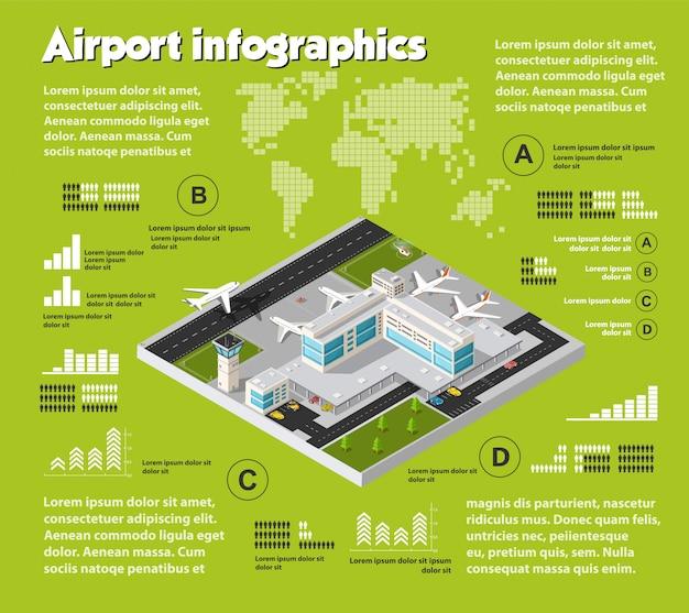 Infografía de viajes aéreos