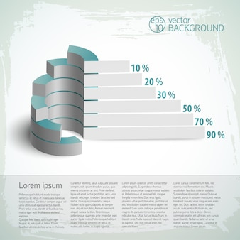 Infografía vintage con gráficos de negocios