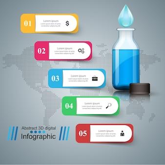 Infografías de botellas