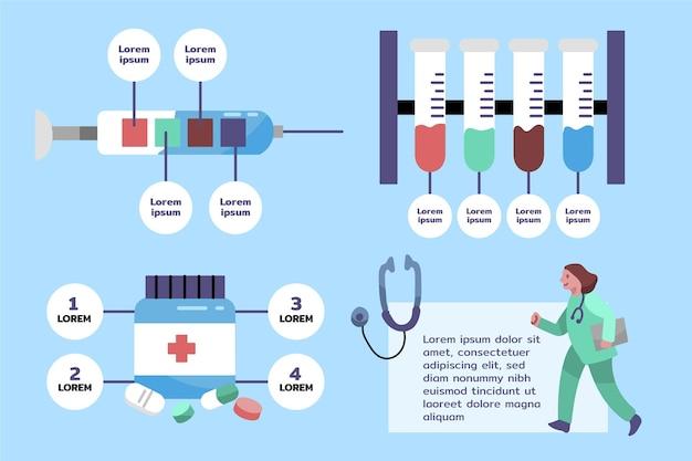 Infografías médicas dibujadas a mano