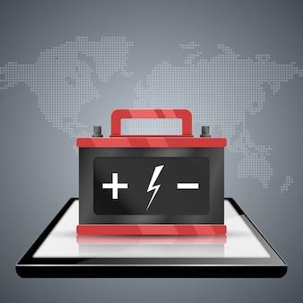 Infografías de negocios. icono de batería