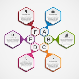 Infografías para presentaciones de negocios o banner informativo.