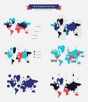 Infografías sobre la tendencia del estado de la población
