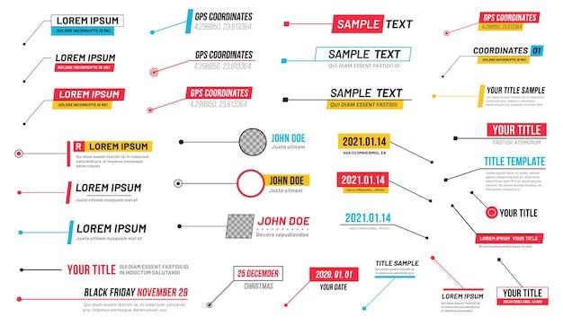 Información de banner de títulos de rótulos, cuadro de texto de contenido, presentación de información de contorno a la comunicación, ilustración vectorial