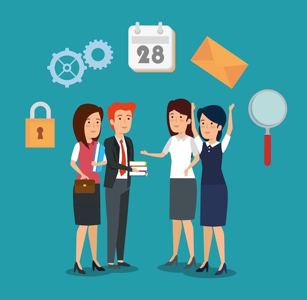 Información de cooperación de estrategia de empresarios profesionales