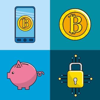 Información digital de seguridad a la moneda de bitcoin