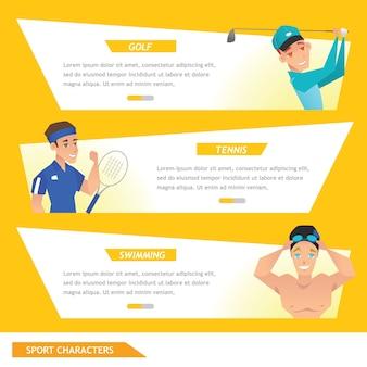 Información gráfica deporte golf