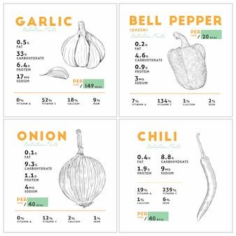 Información nutricional del ajo crudo.