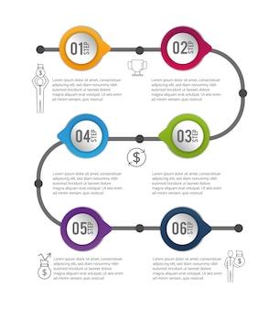 Información del proceso de datos de negocio de infografía