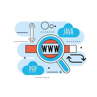 Información del proceso del sitio web a la tecnología de programación.