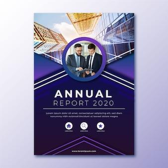 Informe anual abstracto con plantilla de imagen