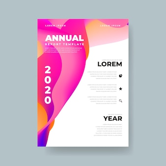 Informe anual colorido abstracto de plantilla