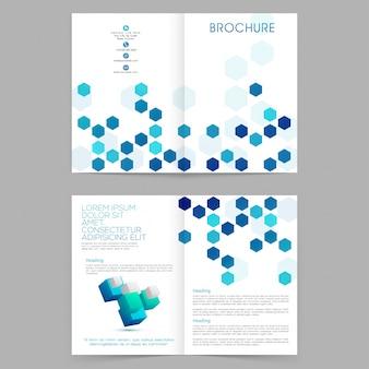 Informe anual creative geometric magazine abstract