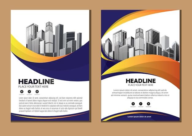 Informe anual del diseño de la cubierta del diseño de la plantilla del folleto