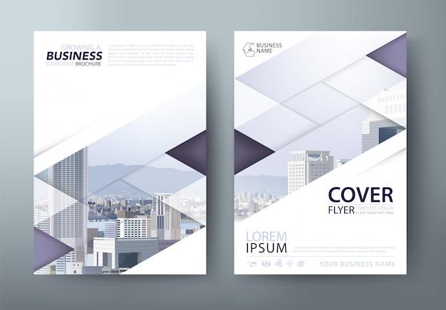 Informe anual, folleto, plantilla de portada del libro. diseño en tamaño a4.