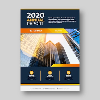 Informe anual con foto