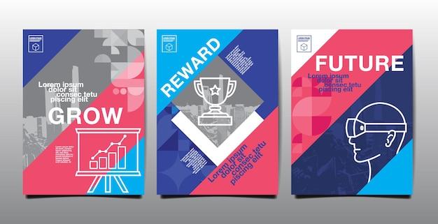 Informe anual, futuro, negocio, diseño de plantilla, libro de portada. ilustración vectorial