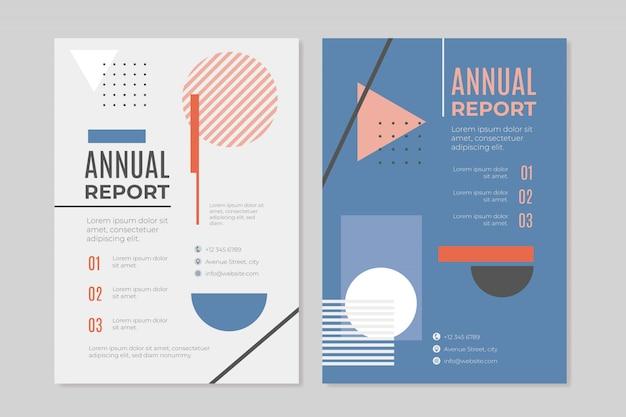 Informe anual de negocios en estilo memphis