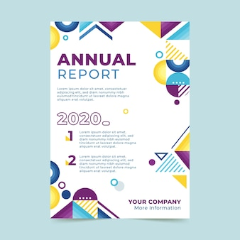 Informe anual plantilla abstracta colorida