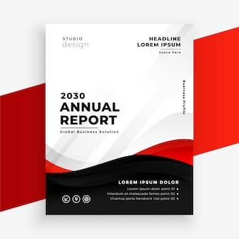 Informe anual plantilla de diseño de volante rojo moderno