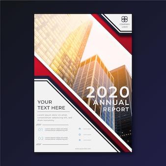 Informe anual con plantilla de resumen de imagen
