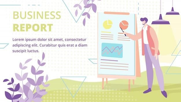 Informe comercial o presentación vector banner