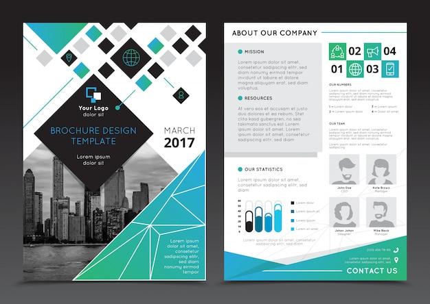 Informe de la empresa plantillas de folleto en el fondo gris plano aislado ilustración vectorial