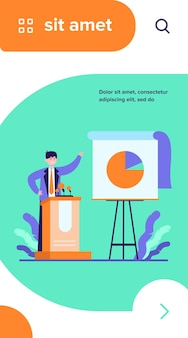 Informe de presentación de orador feliz