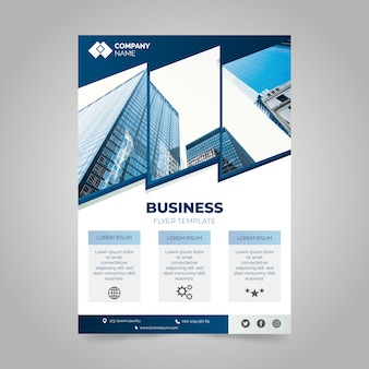 Informe profesional anual de negocios con foto