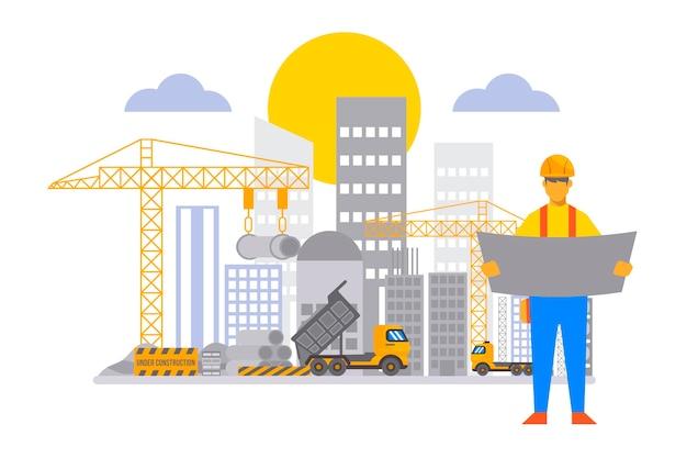 Ingeniería plana y construcción ilustrada.