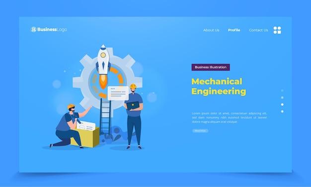 Ingeniería técnica en la página de destino.