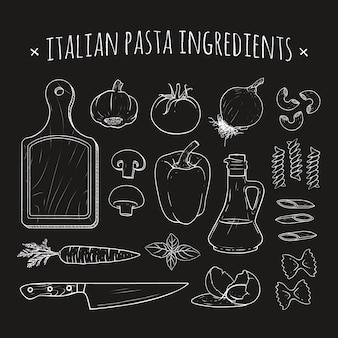 Ingredientes de pasta italiana