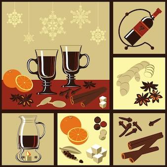Ingredientes para vino caliente.