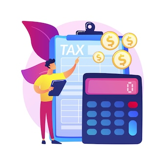 Ingresos netos calculando la ilustración del concepto abstracto. cálculo de sueldos, fórmula de ingresos netos, salario neto, contabilidad corporativa, cálculo de ganancias, estimación de ganancias.