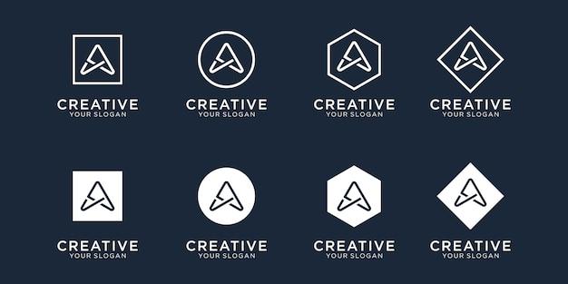 Iniciales de una plantilla de diseño de logotipo
