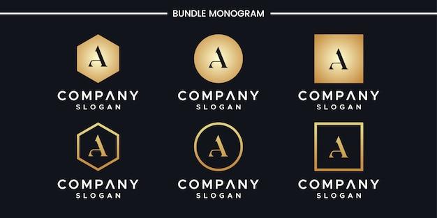 Iniciales de una plantilla de diseño de logotipo.