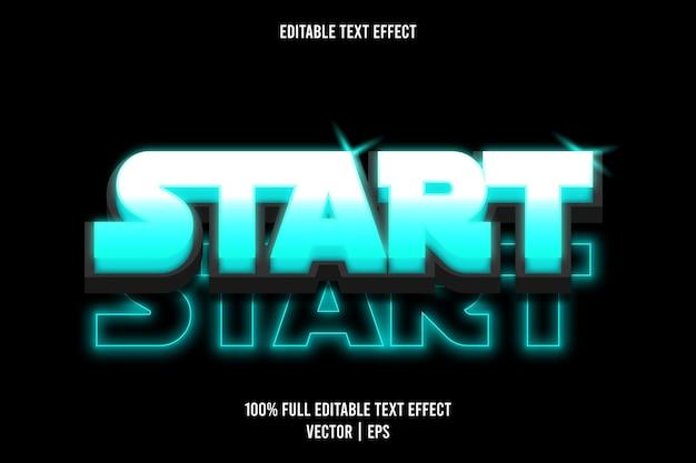 Iniciar efecto de texto editable estilo neón color cian